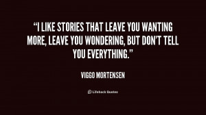 like stories that leave you wanting more, leave you wondering, but ...