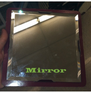 The Crafty Gator: Inspirational Quote Mirror