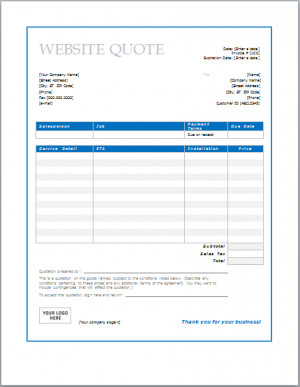 quotetemplate.orgWebsite Design Quote Template