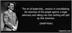 consists in consolidating the attention of the people against a single ...