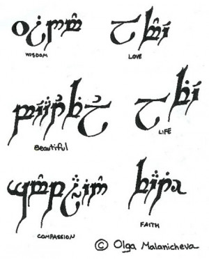 Arabic Faith Quote Tattoo Design