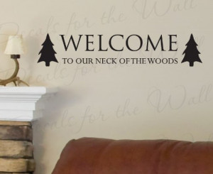 Neck of the Woods - Hunting Hunt Hobby Cabin - Decorative Vinyl Quote ...