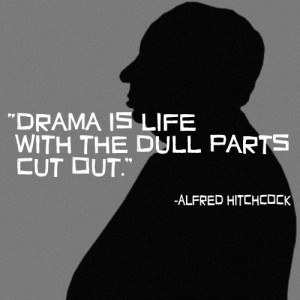 Alfred Hitchcock on editing life.