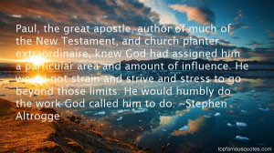Top Quotes About Paul The Apostle