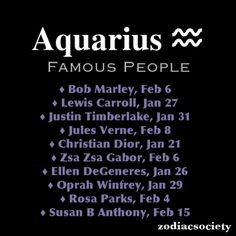 Famous Aquarius People