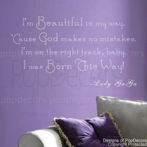 ... Decal - I'm beautiful in my way- Vinyl Words and Letters Quote Decals