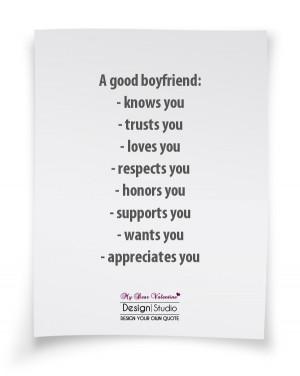 Boyfriend Quotes - A good boyfriend knows you