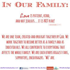 ... as much as I do --- to make family and loved ones know they matter