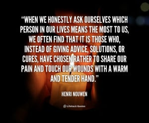 Henri Nouwen When Honestly...