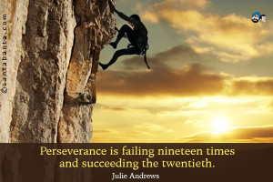 Perseverance is failing nineteen times and succeeding the twentieth.