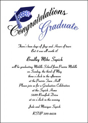 School Graduation Cards for Eighth Grade areBecoming Very Popular!