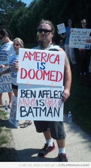 So the Westboro Baptist Church came to my city today. This guy had the ...