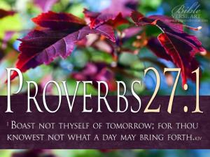 Proverbs 27:1 Bible Verse Free Wallpaper