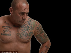 Tough: Ron Riveira (pictured) served in the Middle East for the Marine ...