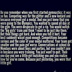 Tumbling Quotes Gymnastics quotes make me cry