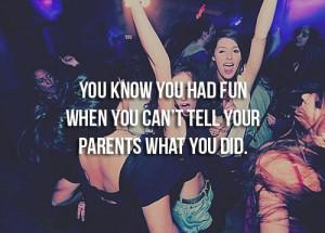 Teenagers fun party
