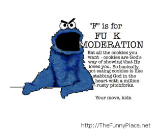 Monster cookie quote - Funny Pictures, Awesome Pictures, ... - image