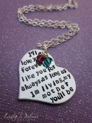 ll Love You Forever Book Quote Heart by LadyWatsonDesigns, $30.00