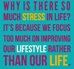 Why is there so much Stress in Life ? It's because we focus too much ...