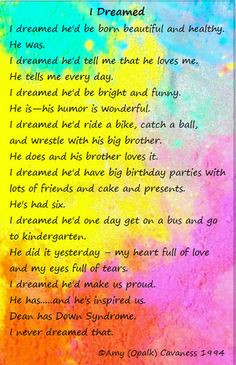 Inspiration+Quotes+Down+Syndrome | Poems About Down Syndrome More