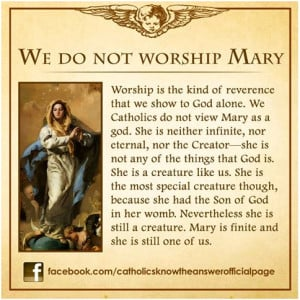 ... your knee to Mary is indeed an act of disrespect to Jesus Christ and