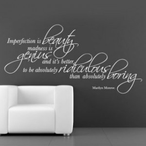 ... marilyn monroe imperfection is beauty quote Marilyn Monroe Quotes