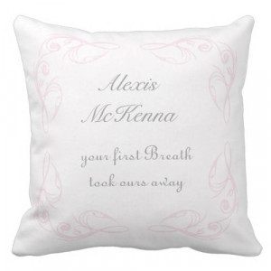 Baby Girl Quote Keepsake Throw Pillow by QuoteLife