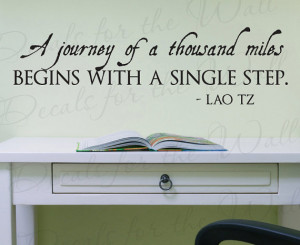 Lao Tzu Journey Thousand Miles Begins with Single Step Office ...