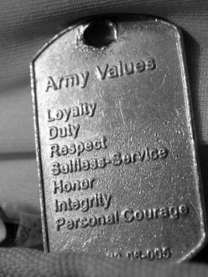 The Army Values. Things the Army taught me that I will take with me ...
