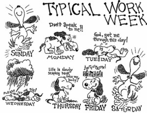 Unlike Snoopy, my dog just sleeps all week and poos in the house at ...