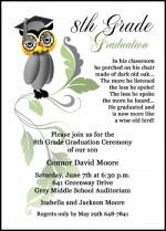 Graduation Announcement Invitation for 8th Grade, Middle School, and ...
