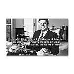 Humanist John F. Kennedy Rectangle Sticker