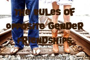 The Rules of Opposite Gender Friendships