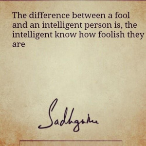 Intelligent knows wise sayings