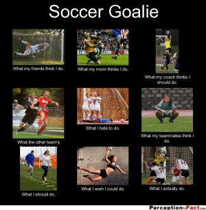 Soccer Goalie Quotes Inspirational Soccer goalie what my friends