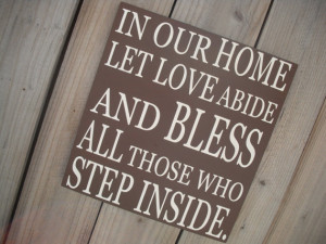 IN OUR HOME Let Love Abide - Custom Quote Sign - Important Dates Sign ...
