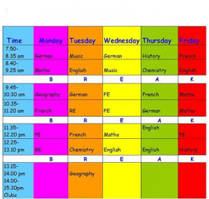 school schedule time table pictures school calendar time table