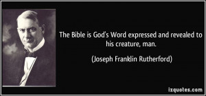 quote-the-bible-is-god-s-word-expressed-and-revealed-to-his-creature ...