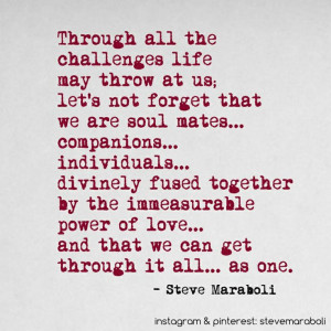 ... and that we can get through it all… as one.