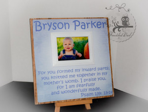 Personalized Baby Picture Frame, Scripture, Bible Verse, New Baby ...