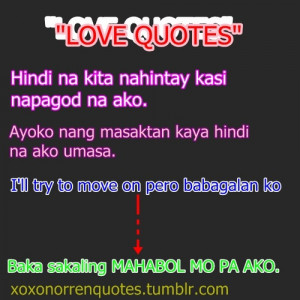 famous love quotes tagalog