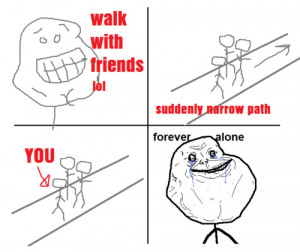 fail, forever alone, funny, lonely, lonley, man, siempre solo ...