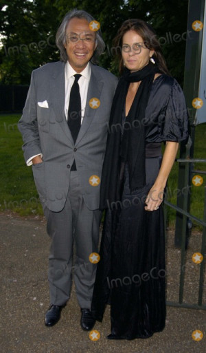 David Tang Picture London Hong Kong businessman David Tang and wife