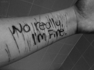 "... depressing quote ""NO REALLY, I'm fine"". A confusing answer to a"