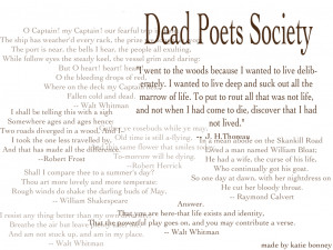 an analysis of the many occasions in the film dead poets society The green burial society  diane buckner and marc baby from cbc canada who were present to film  green, or natural burial is a way of caring for the dead.
