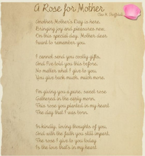 Poem For My Deceased Mother On Mothers Day Deceased Mother Poems ...
