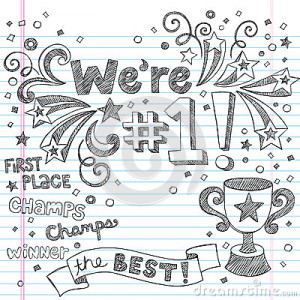 Sports Trophy Champion Sketchy Notebook Doodles Royalty Free Stock ...