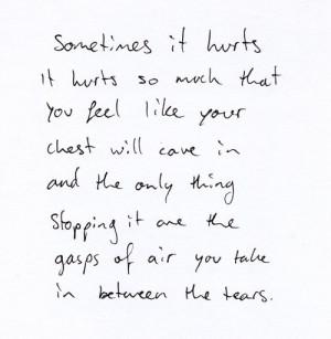 death pain hurt writing rain crying tears break up Macabre philosophy ...