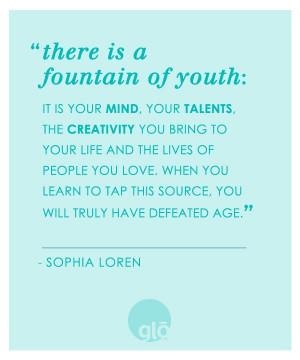 Sophia Loren Fountain of Youth