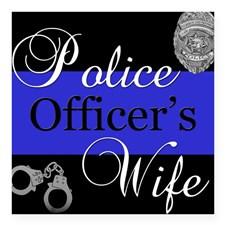 Police Wife Square Sticker 3